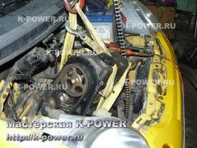 Daewoo Matiz 0.8 л - демонтаж двигателя